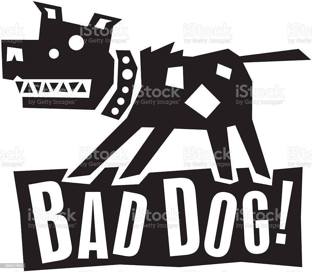 Wacky Bad Dog royalty-free stock vector art