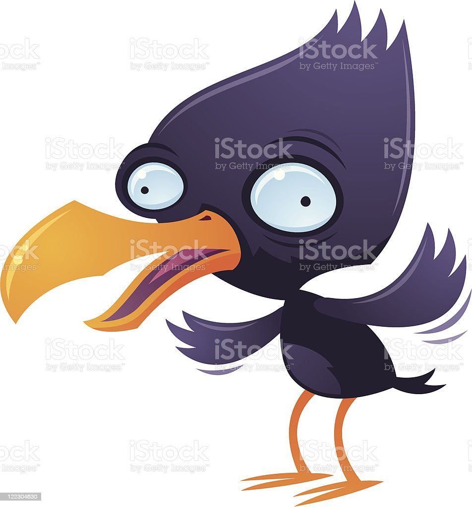 Wacky Squawking Bird vector art illustration