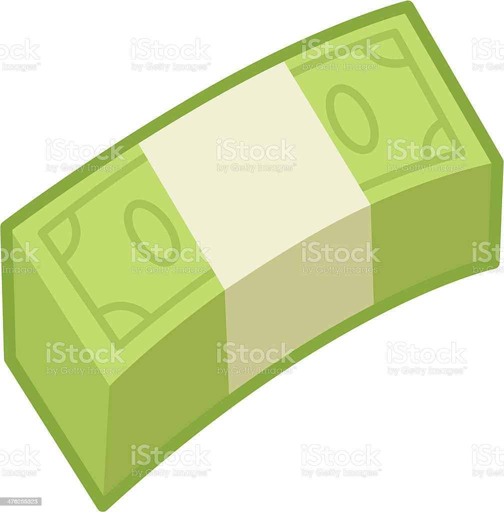 wad of money bills vector art illustration