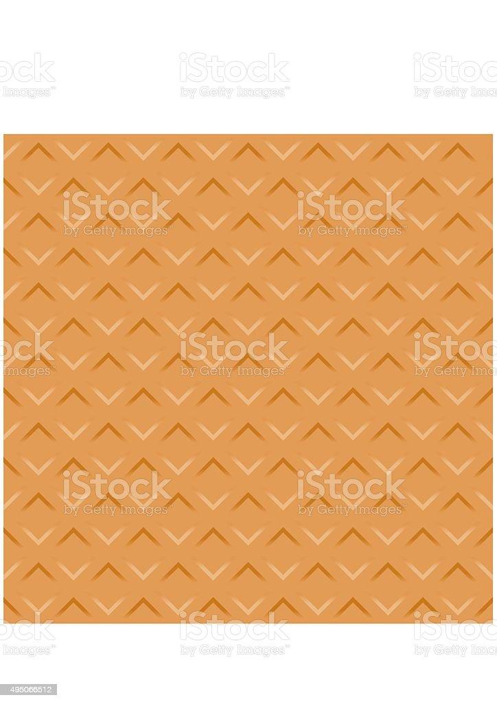 Wafer seamless texture background. Pattern Vector vector art illustration