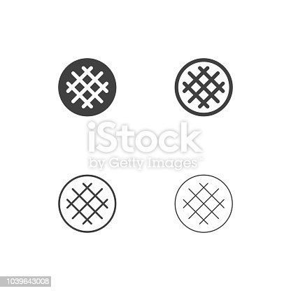 Waffle Icons Multi Series Vector EPS File.