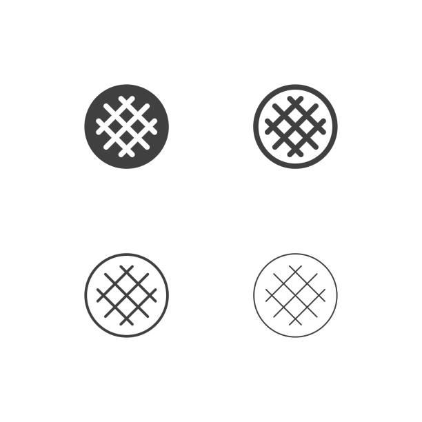 ワッフル アイコン - マルチ シリーズ - ワッフル点のイラスト素材/クリップアート素材/マンガ素材/アイコン素材