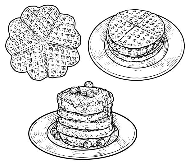 Best Waffle Illustrations Royalty Free Vector Graphics