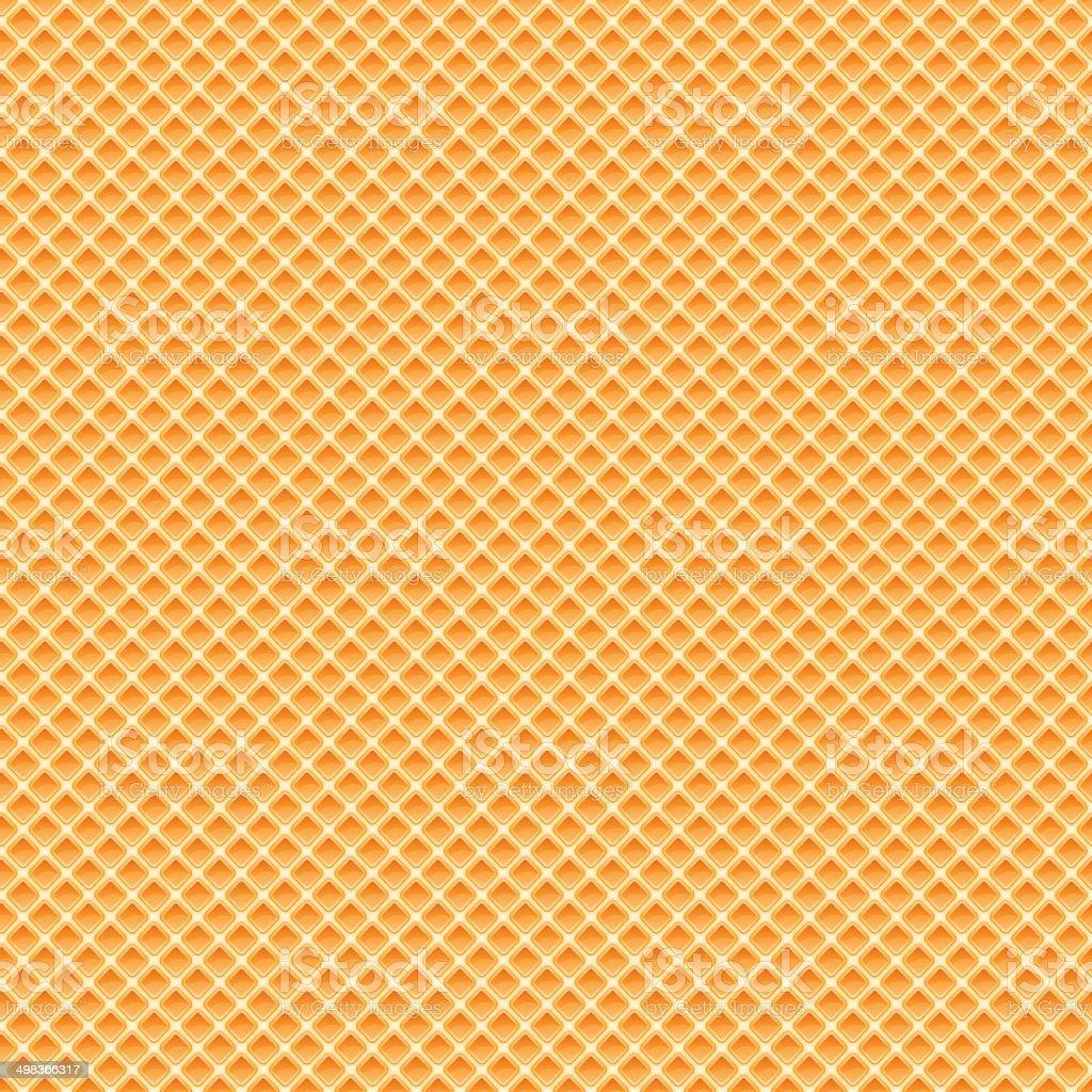 Waffles pattern seamless texture vector art illustration