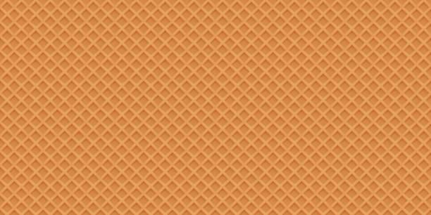 ワッフル現実的なベクトルのシームレスなテクスチャです。甘くておいしい fo - ワッフル点のイラスト素材/クリップアート素材/マンガ素材/アイコン素材
