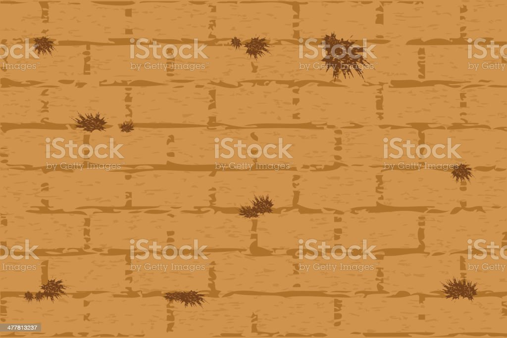 wailing wall vector art illustration
