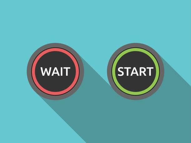 Wait and start buttons – Vektorgrafik