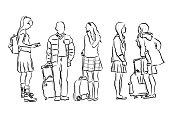 istock Wait For The Bus School Children 1082612376