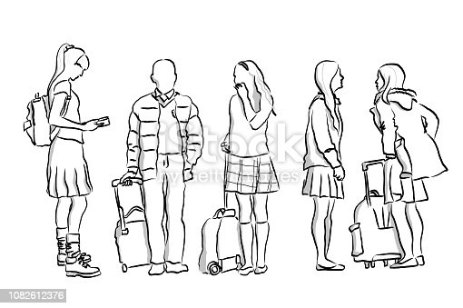 istock Wait For The Bus School Children 1082612376