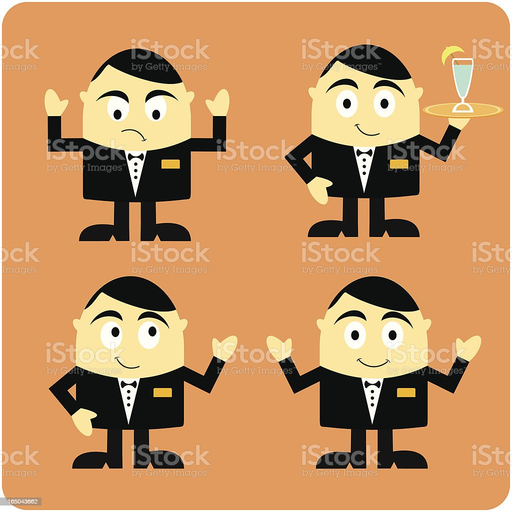 Waiter Character royalty-free stock vector art