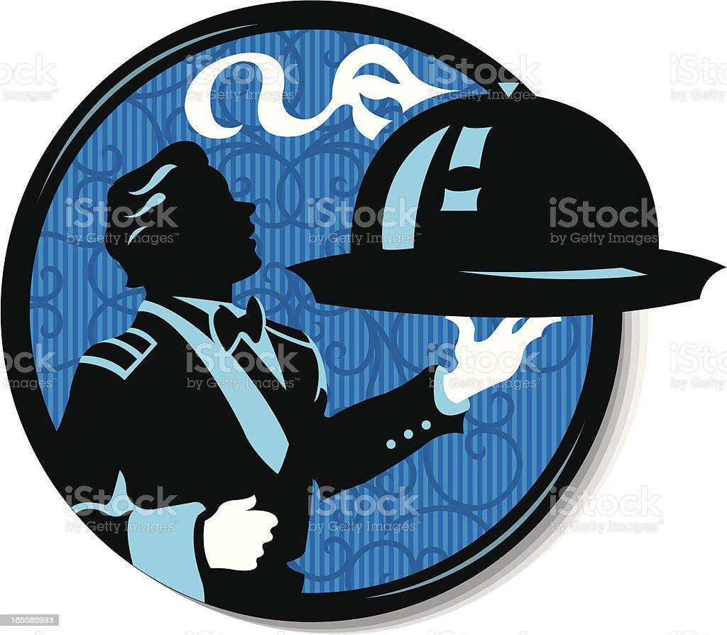Waiter Serving Up Food royalty-free waiter serving up food stock vector art & more images of butler