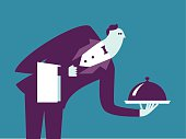 Vector Illustration - Waiter
