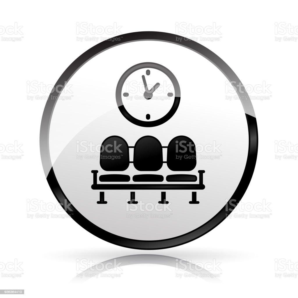 waiting area icon on white background vector art illustration