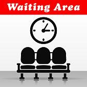 Illustration of waiting area vector icon design