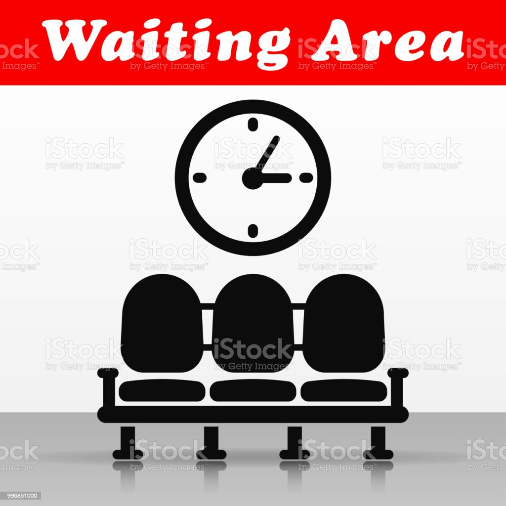 waiting area vector icon design vector art illustration