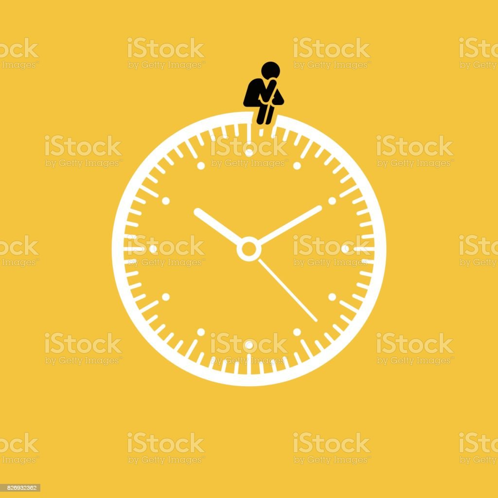 Waiting concept vector art illustration