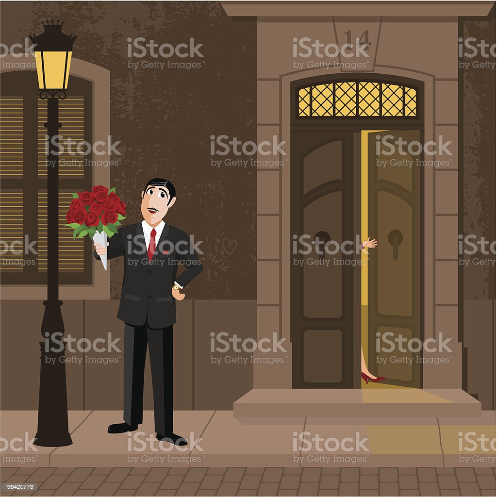 Waiting for her royalty-free stock vector art