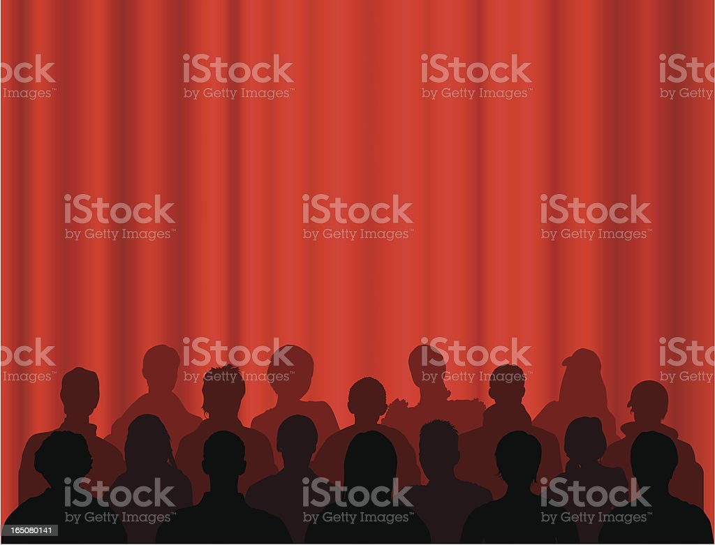 Waiting for the Show royalty-free stock vector art