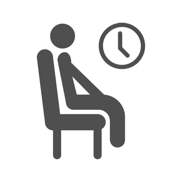 illustrazioni stock, clip art, cartoni animati e icone di tendenza di icona attesa - aspettare