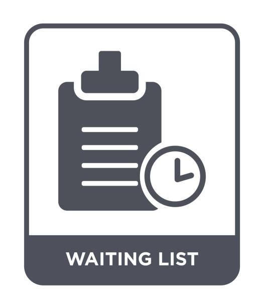 ilustrações, clipart, desenhos animados e ícones de vetor de ícone de lista de espera no fundo branco, moderno e lista de espera cheia de ícones do comércio eletrônico e pagamento coleção - esperar