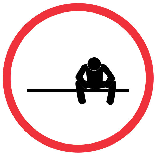 waiting man sign, caution road symbol sign and traffic symbol design concept, vector illustration. - wine stock illustrations