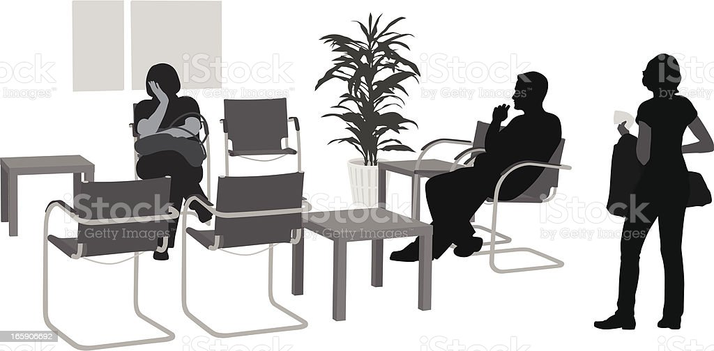 Waiting O waiting Vector Silhouette royalty-free stock vector art