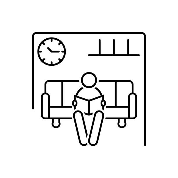 illustrations, cliparts, dessins animés et icônes de salle d'attente - hall d'accueil