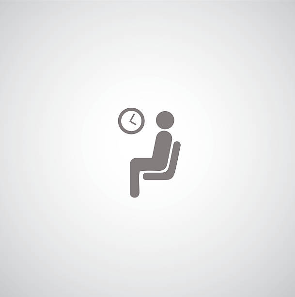 warten-symbol - fahrzeugsitz stock-grafiken, -clipart, -cartoons und -symbole