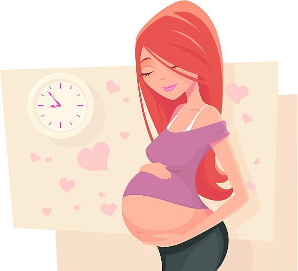 waiting - pregnancy stock illustrations, clip art, cartoons, & icons