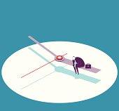 Vector illustration - waiting