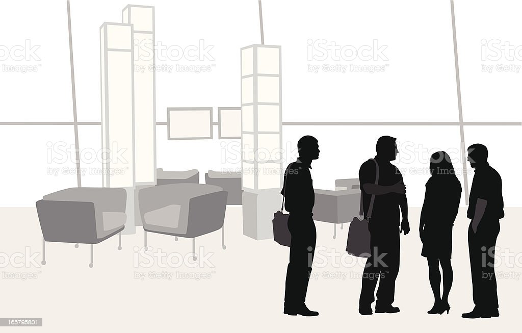 Waiting Vector Silhouette royalty-free stock vector art