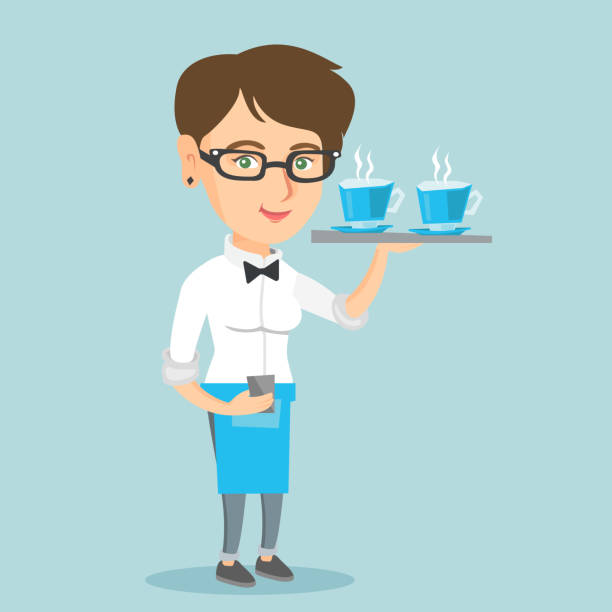Best Waitress Illustrations, Royalty-Free Vector Graphics ...