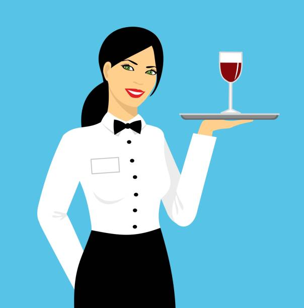 Best Waitress Illustrations, Royalty-Free Vector Graphics
