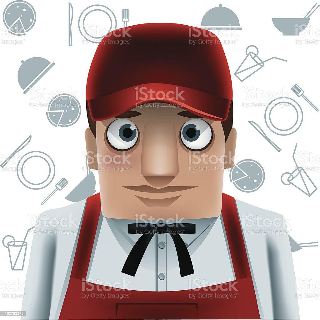 Waitress, royalty-free stock vector art