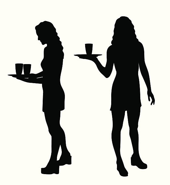 Best Kitchen Illustrations Royalty Free Vector Graphics: Best Waitress Illustrations, Royalty-Free Vector Graphics