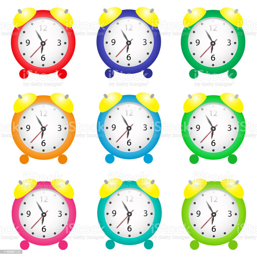 Wake icon set. vector set about clock and alarm clock icons set.