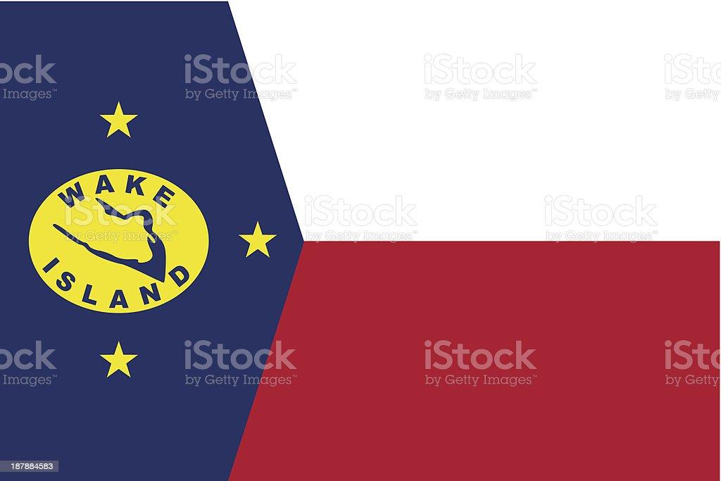 Wake Island Flag royalty-free stock vector art