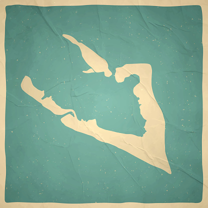 Wake Island map in retro vintage style - Old textured paper
