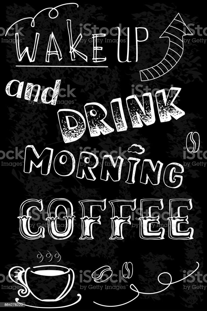 wake up and drink morning coffee. royalty-free wake up and drink morning coffee stock vector art & more images of backgrounds