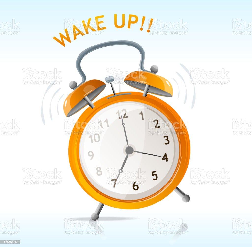 Wake up clock royalty-free stock vector art