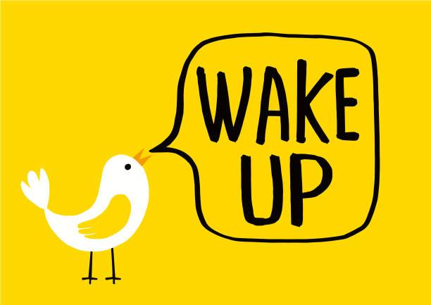 illustrazioni stock, clip art, cartoni animati e icone di tendenza di wake up the alarm clock icon,vector illustration - buongiorno