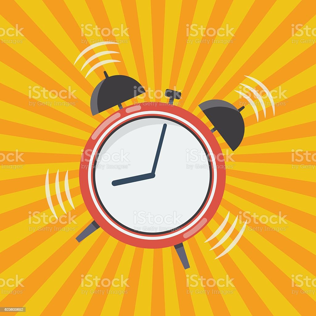 Wake up time vector art illustration