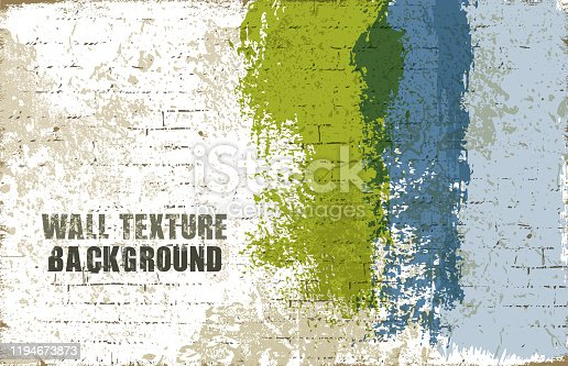 wall texture vector background with brush strokes.