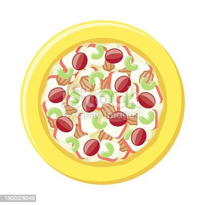 istock Waldorf Salad Overhead Icon 1300028349
