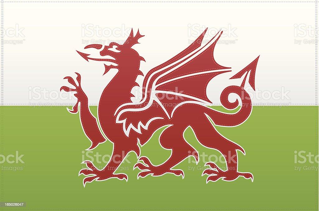 Wales Flag (Vector) vector art illustration