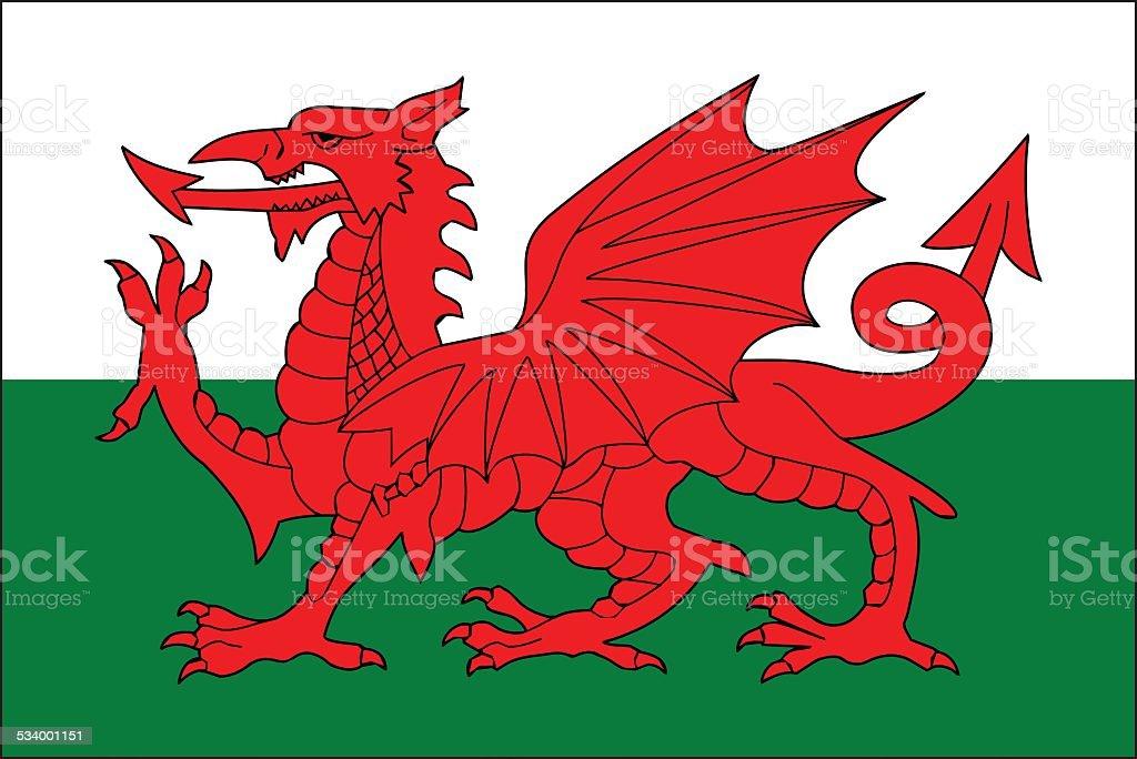 Wales flag vector art illustration