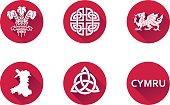 Wales Flat Icon Set