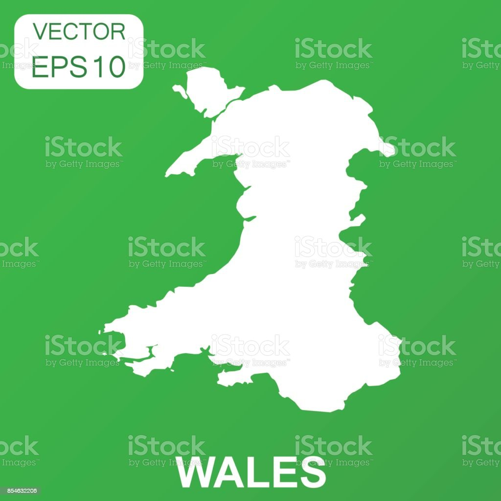 Wales Map Icon Business Concept Wales Pictogram Vector Illustration ...