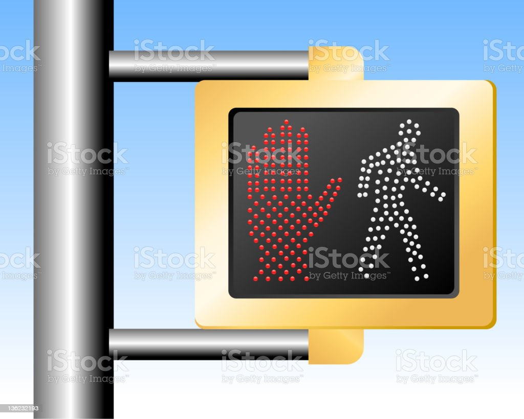 Walk Don't walk sign royalty-free stock vector art