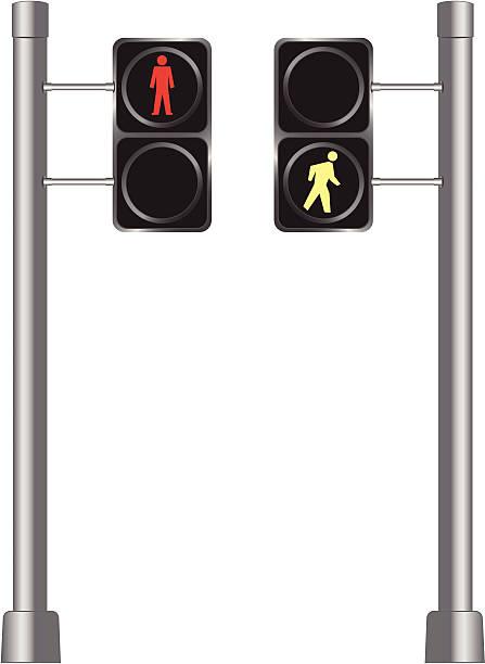 Walk/Don't Walk vector art illustration
